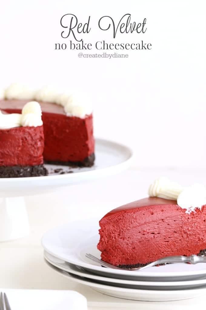 red velvet no bake cheesecake @createdbydiane