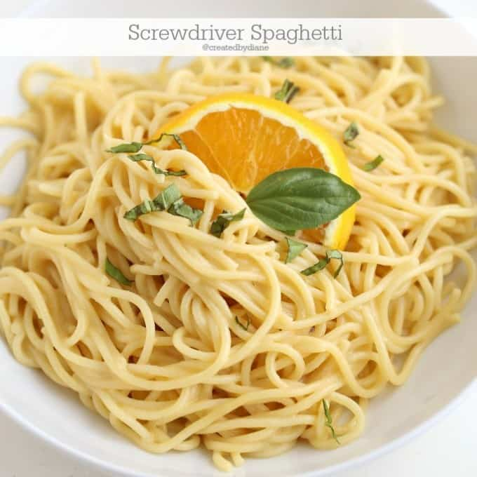 screwdriver spaghetti recipe under 30 minute meal @createdbydiane