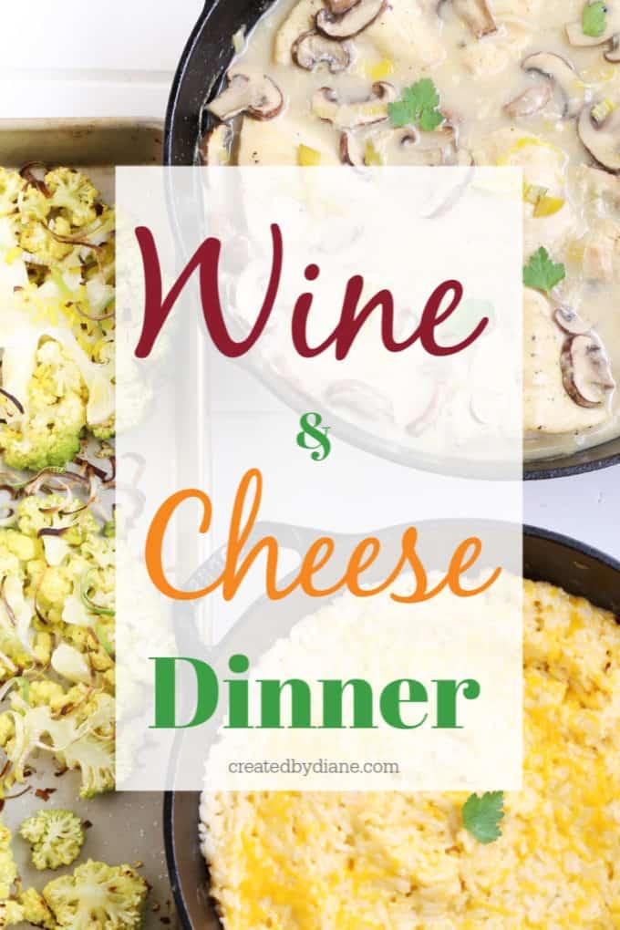 wine and cheese dinner createdbydiane.com