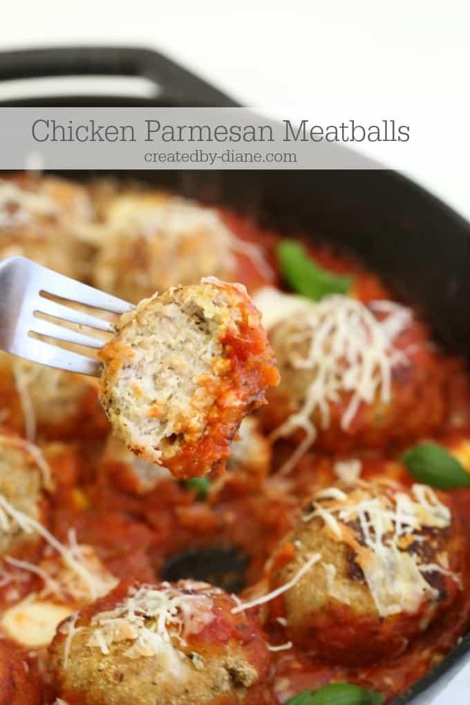 Chicken Parmesan Meatballs @createdbydiane