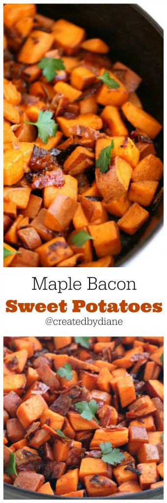 maple bacon sweet potatoes recipe