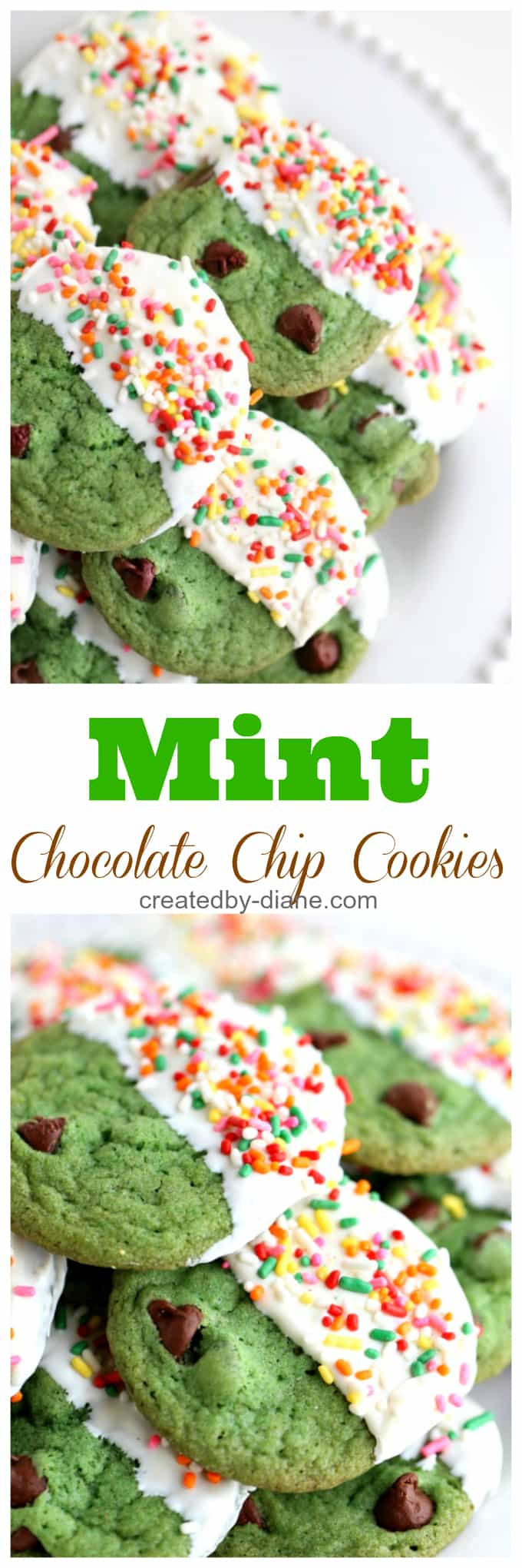 minty chocolate chip cookies