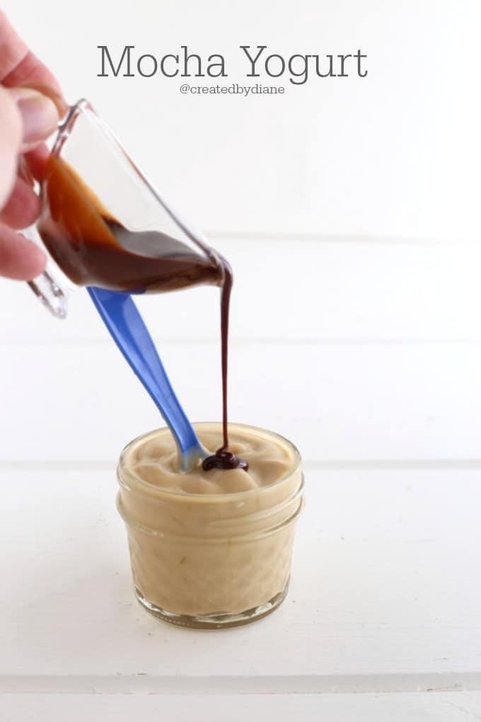 mocha yogurt @createdbydiane