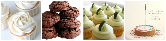 popular vanilla cupcakes chocolate peanut butter cookies, margarita cupcakes, no bake cake for pets, cats and dogs