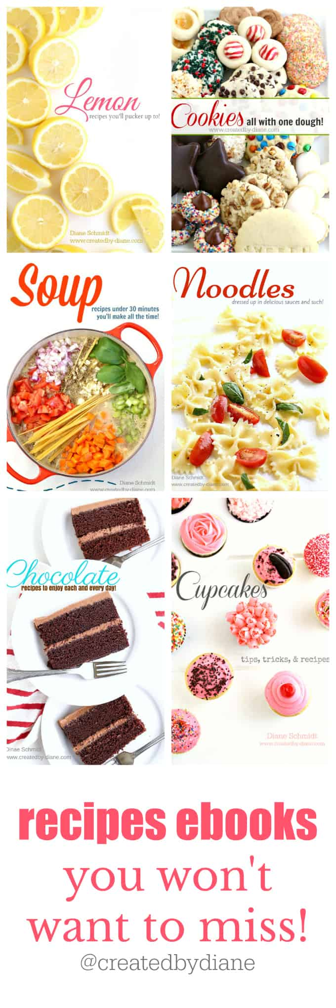 recipe ebooks you won't want to miss from @createdbydiane #recipes #ebooks