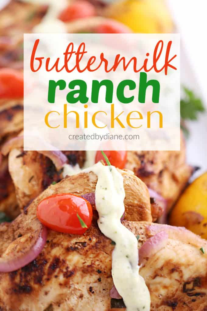 homemade buttermilk ranch chicken recipe createdbydiane.com