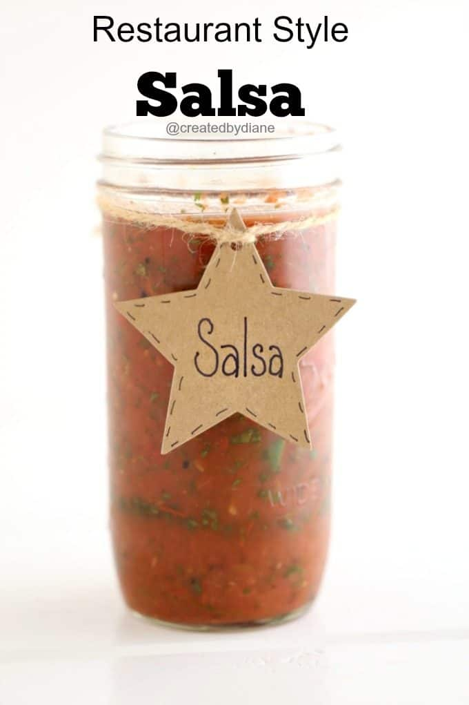 restaurant style salsa @createdbydiane