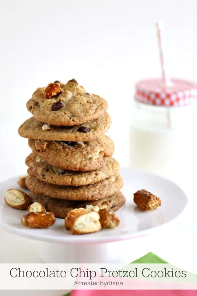 Chocolate Chip Pretzel Cookies | Created by Diane
