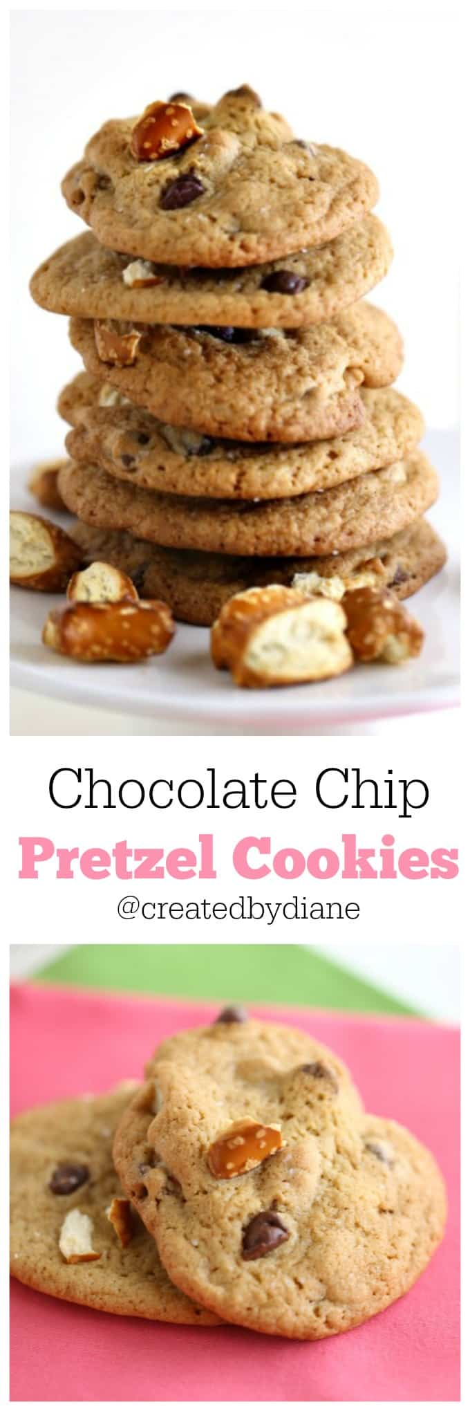 Chocolate Chip Pretzel Cookies from @createdbydiane