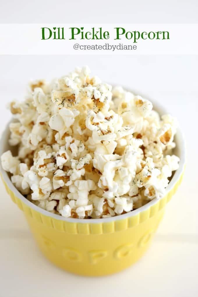 Dill Pickle Popcorn @createdbydiane