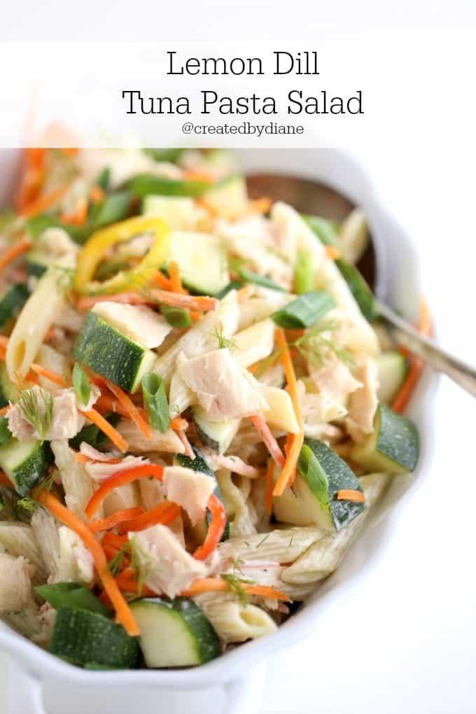 Lemon Dill Tuna Pasta Salad @createdbydiane