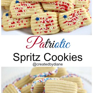 Patriotic SPritz Cookies from @createdbydiane