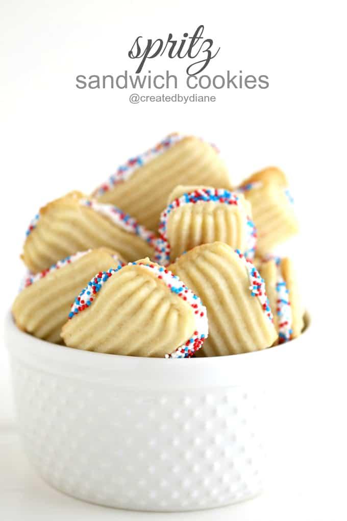 spritz sandwich cookies @createdbydiane