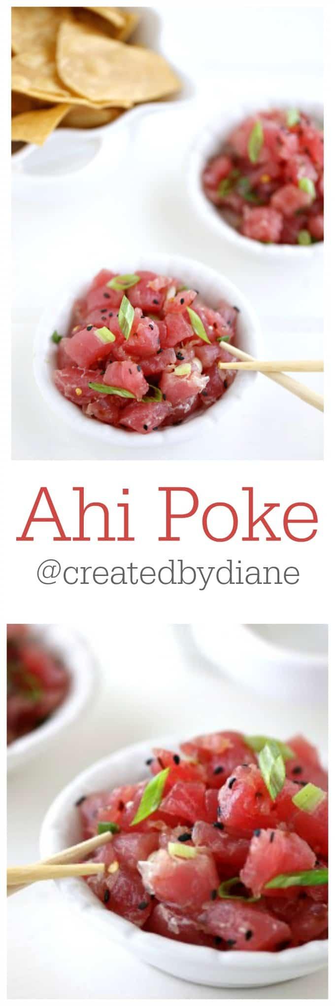 Ahi Poke HOMEMADE @createdbydiane