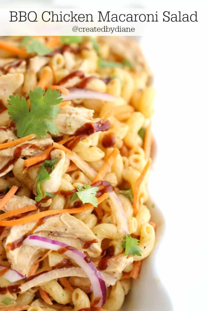 BBQ Chicken Macaroni Salad @createdbydiane