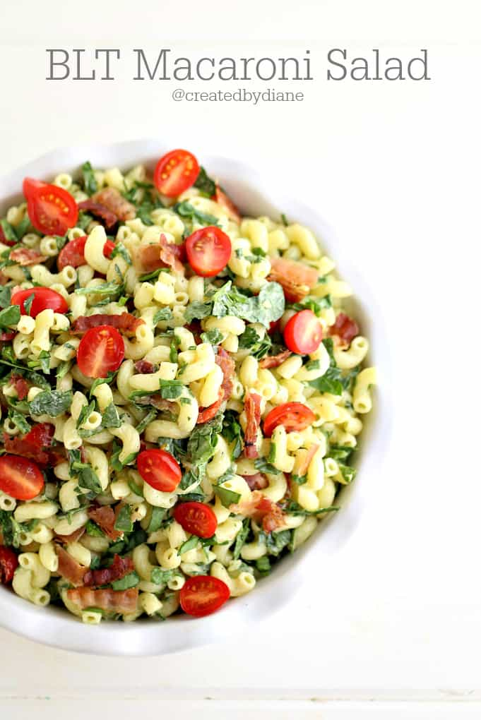 BLT Macaroni Salad Recipe from @createdbydiane