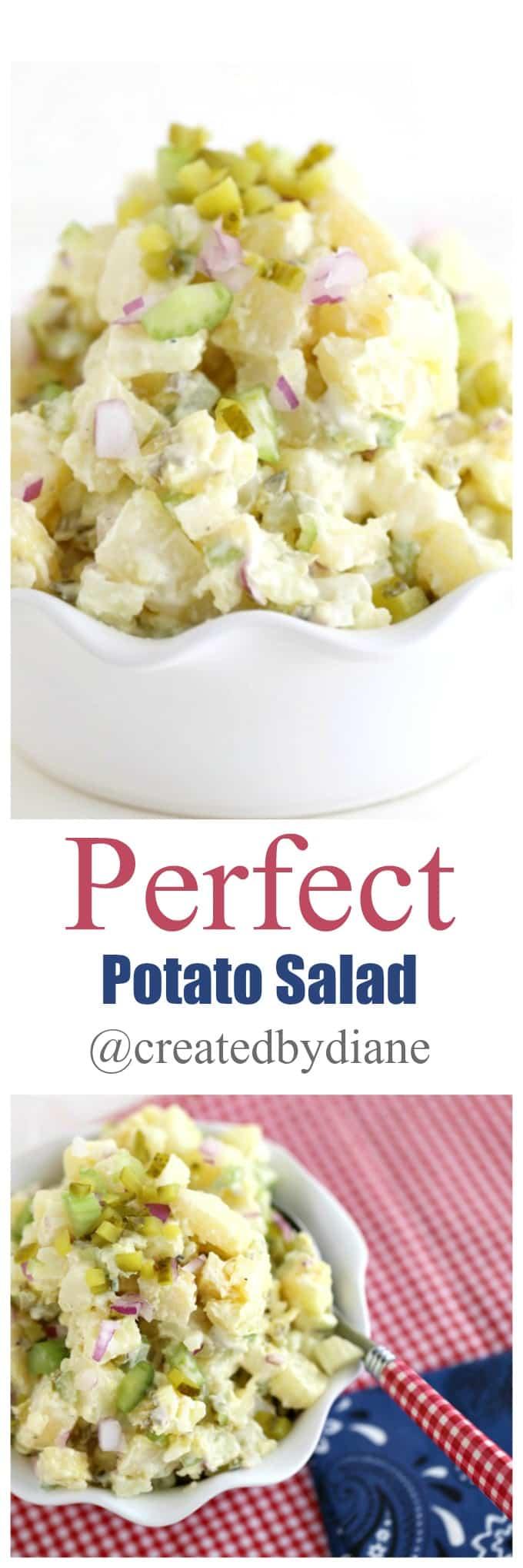 Perfect Potato Salad recipe @createdbydiane