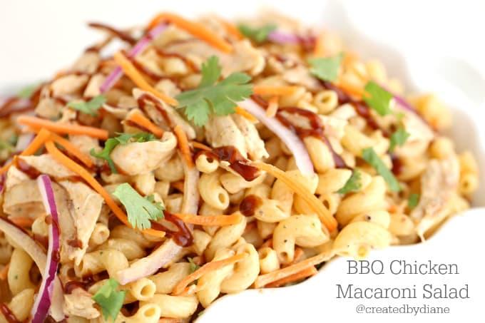 bbq chicken pasta salad @createdbydiane