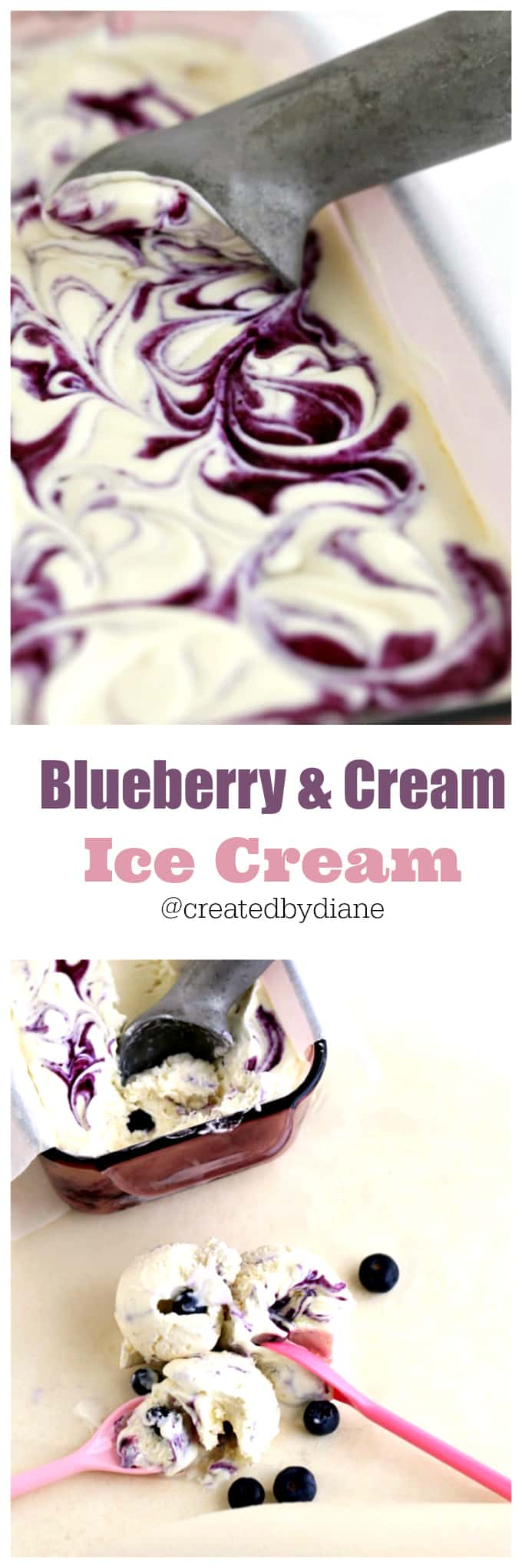 blueberries and cream ice cream from @createdbydiane