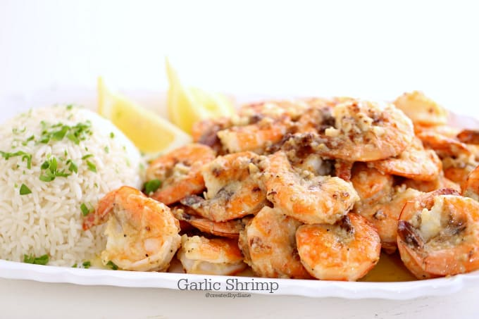 garlic shrimp @createdbydiane