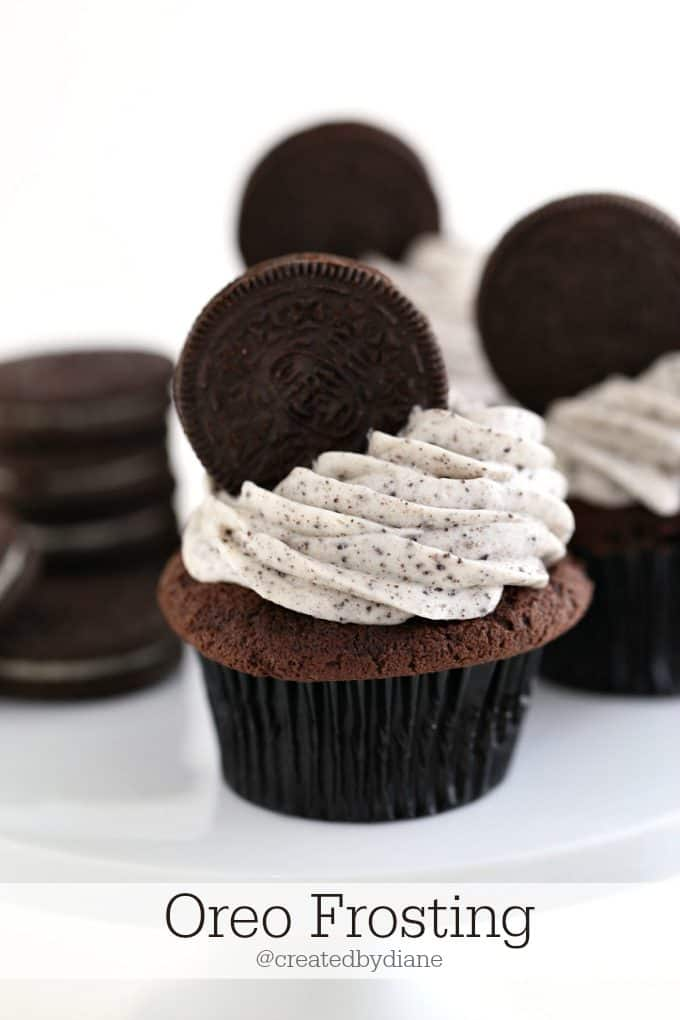 Oreo cookies and cream Frosting | Created by Diane