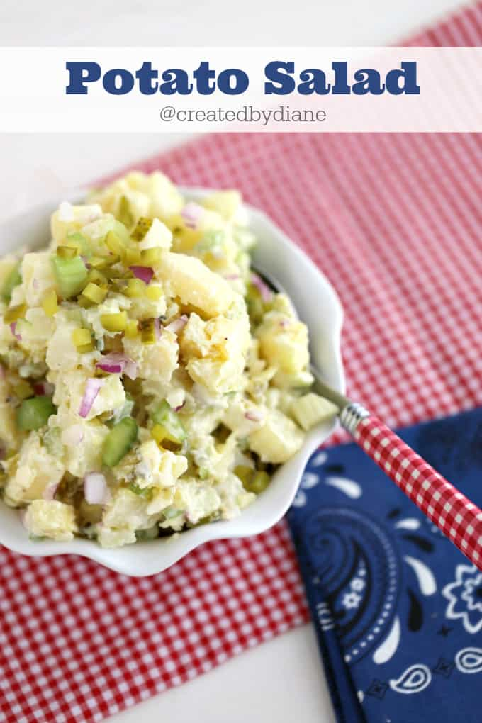 potato salad @createdbydiane