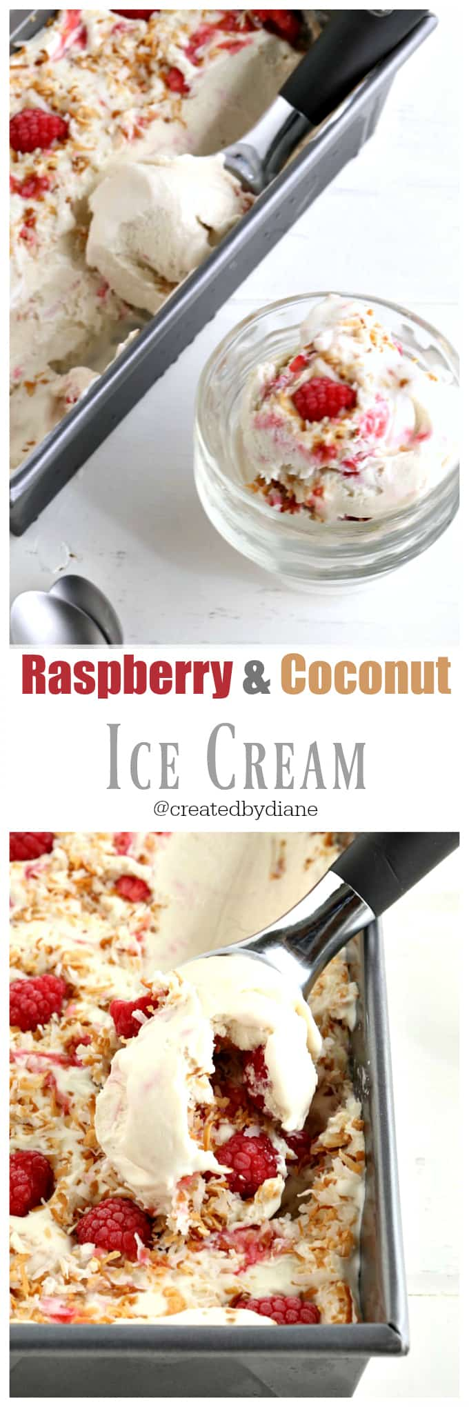 raspberry and coconut ice cream from @createdbydiane