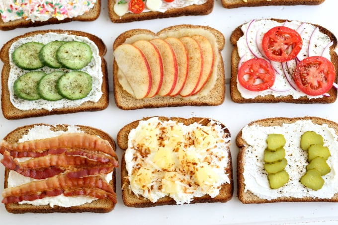 6 toast options for breakfast