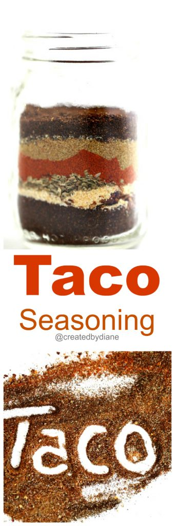 Taco Seasoning Mix no salt @createdbydiane