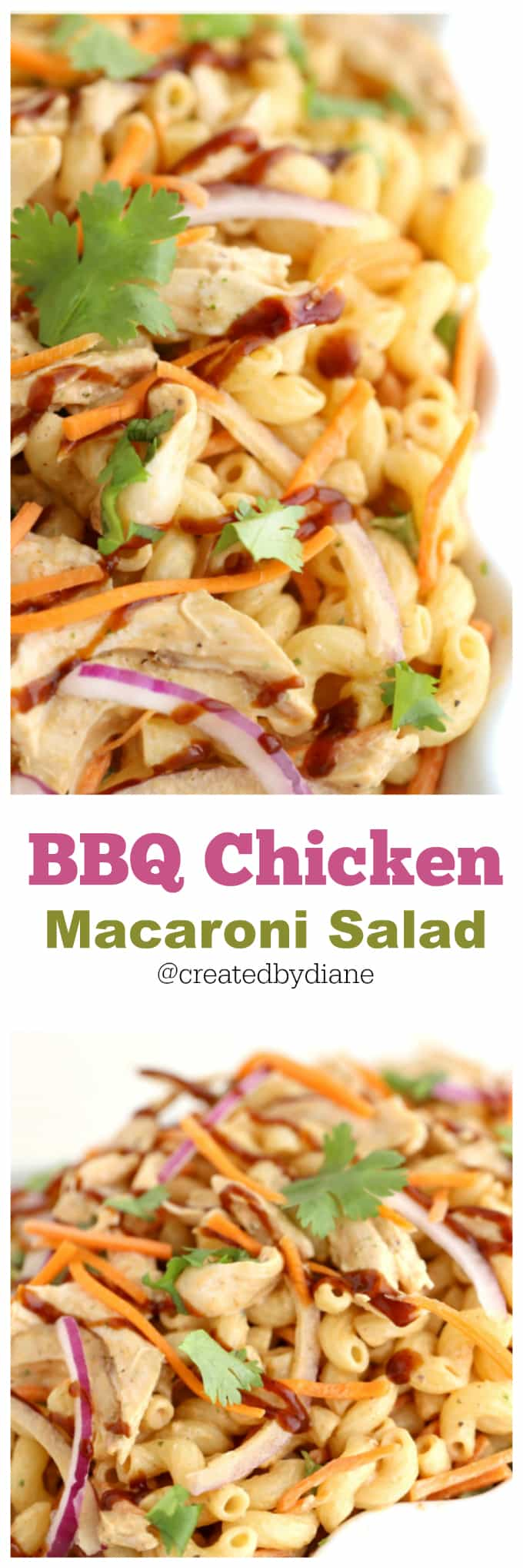 bbq chicken macaroni salad from @createdbydiane