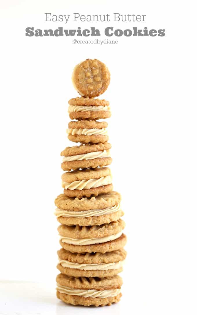 easy peanut butter sandwich cookies @createdbydiane