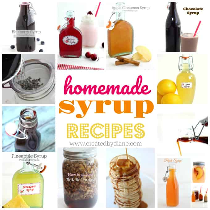 homemade syrup recipes www.createdbydiane.com
