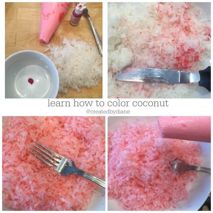 learn how to color coconut @createdbydiane