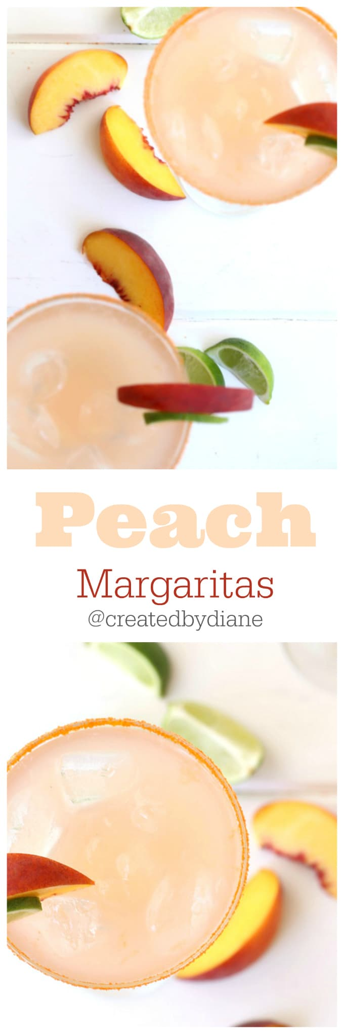 natural peach flavored margaritas @createdbydiane
