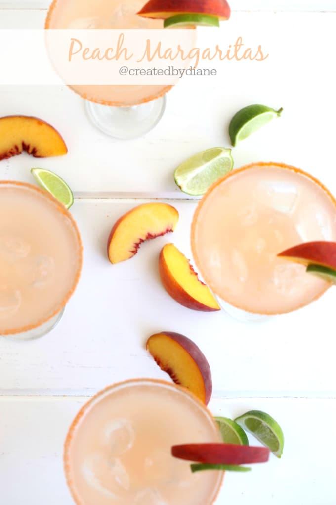 peach margaritas @createdbydiane