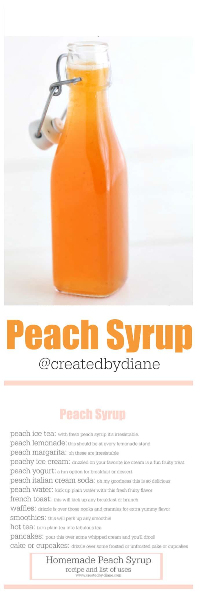 Fresh Peach Syrup Recipe Created By Diane