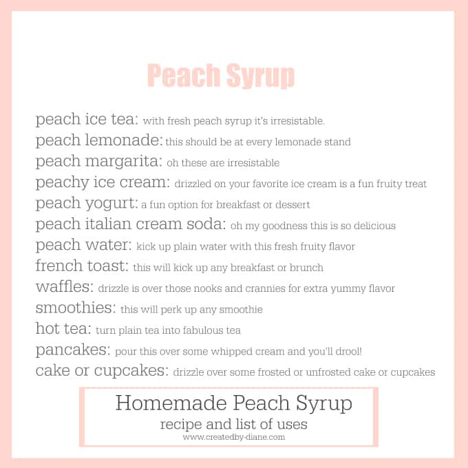 peach syrup uses