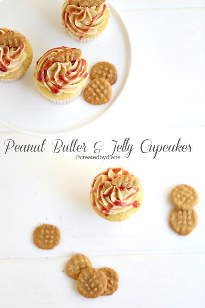 peanut butter and jelly cupcakes @createdbydiane