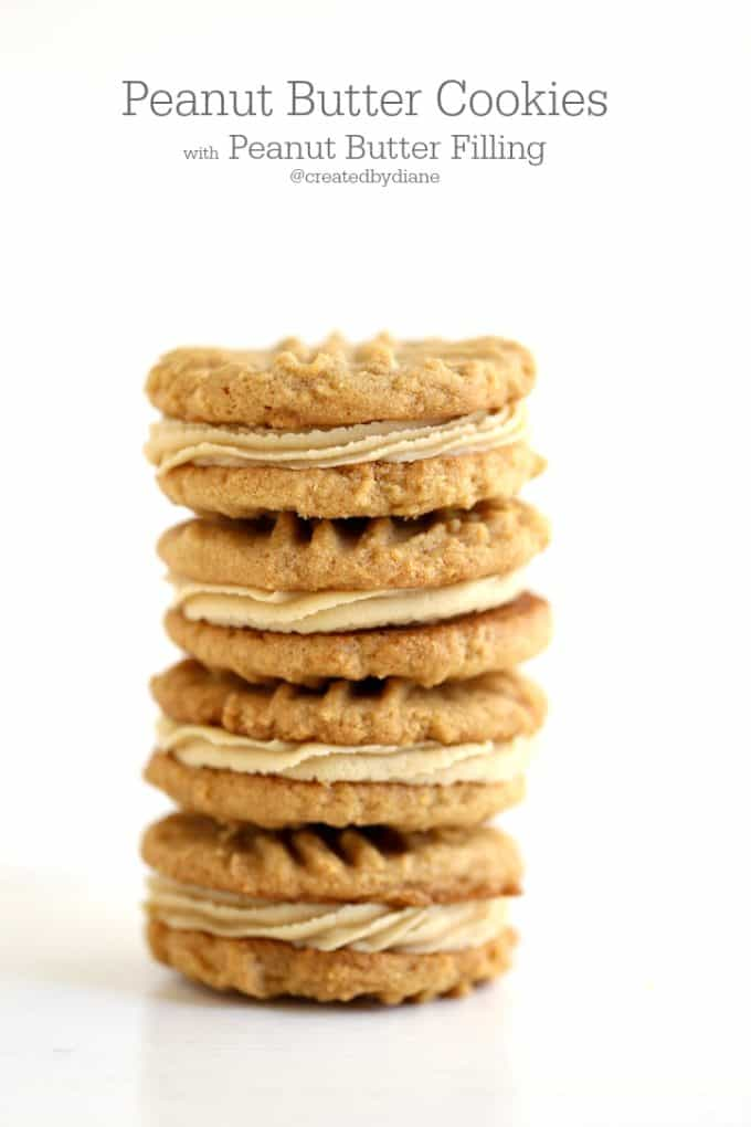 peanut butter filled cookies @createdbydiane
