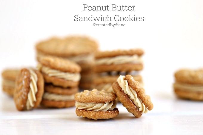 peanut butter sandwich cookies @createdbydiane