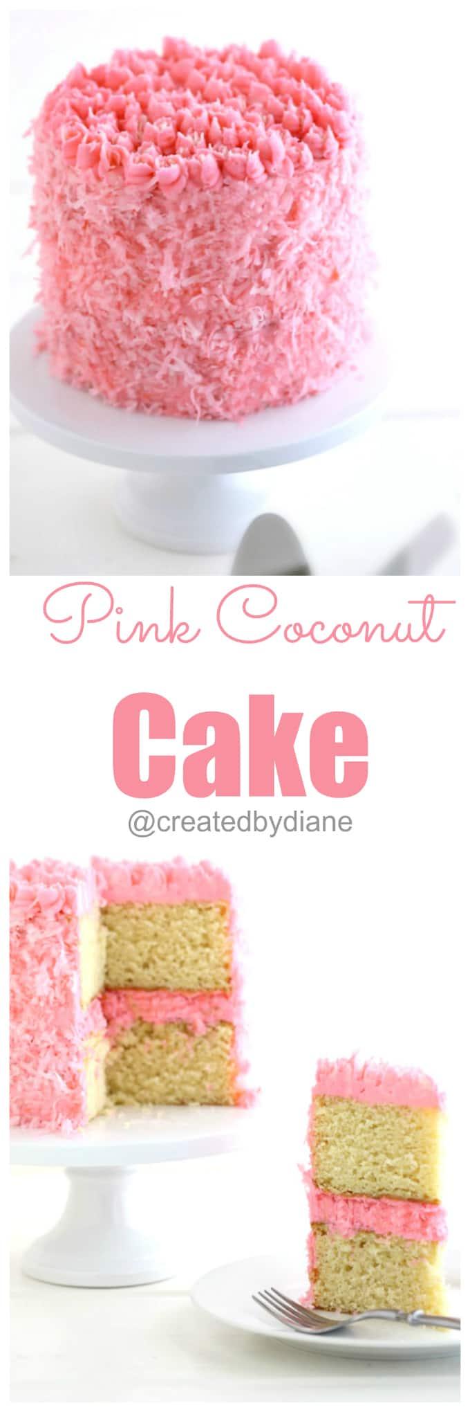 pink coconut cake recipe @createdbydiane