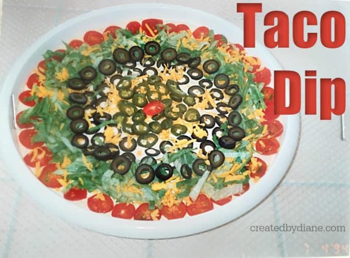 taco dip recipe createdbydiane.com