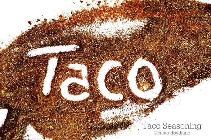 taco seasoning from @createdbydiane