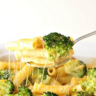 Broccoli Cheddarella Baked Ziti