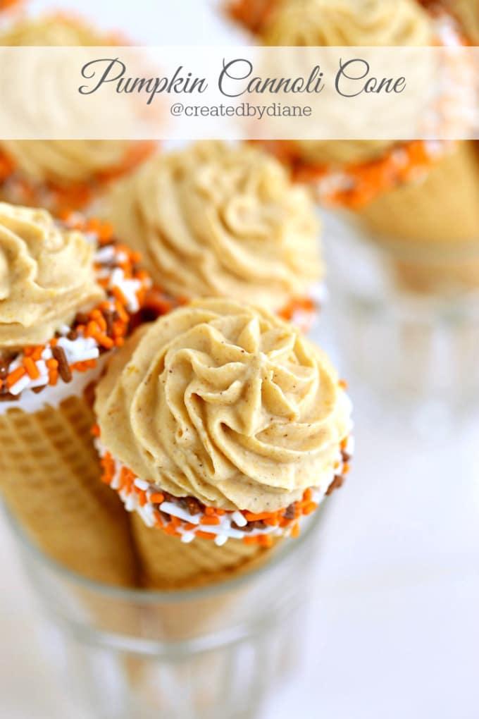 pumpkin cannoli cones delicious @createdbydiane