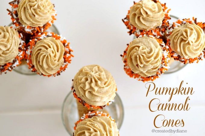pumpkin cannoli cones recipes @createdbydiane