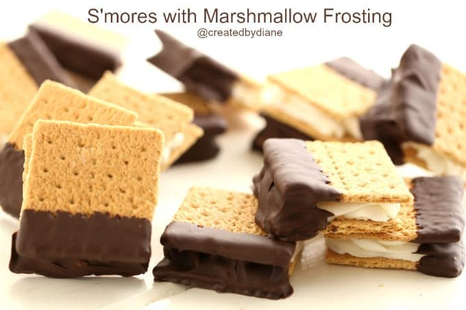 smores-with-marshmallow-frosting-createdbydiane