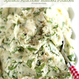 Spinach Artichoke Mashed Potatoes