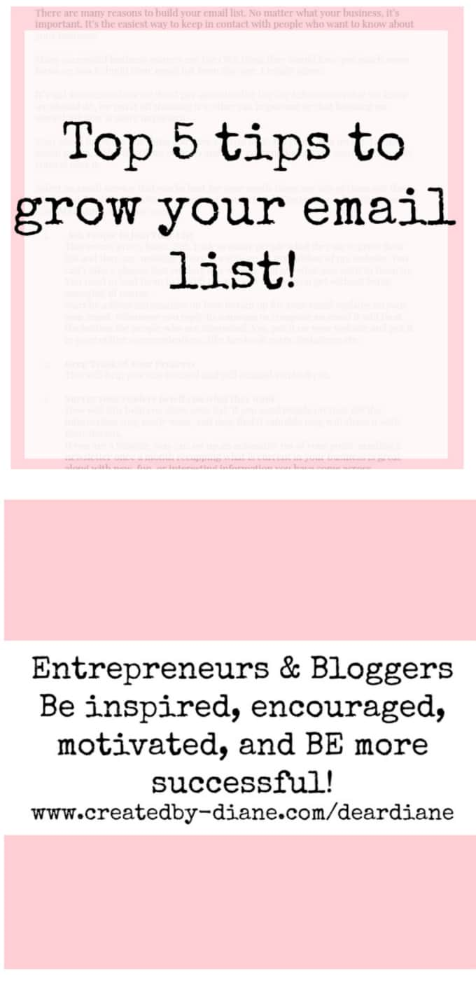 top-5-tips-to-grow-you-email-list-for-entrepreneurs-and-bloggers