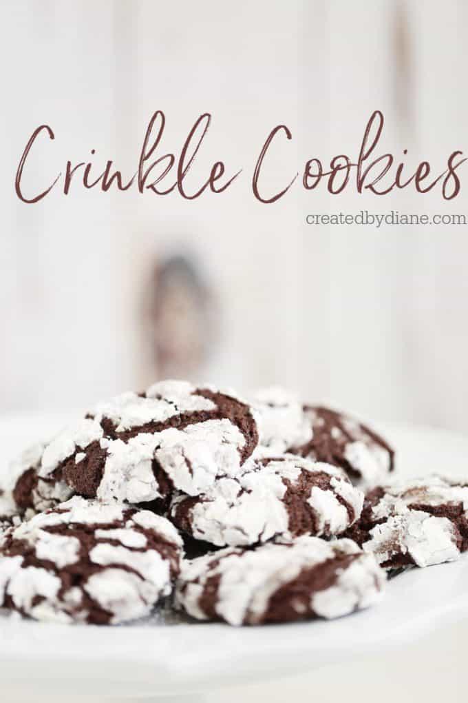 Crinkle Cookies createdbydiane.com
